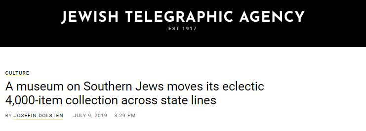 Jewish Telegraphic Agency Features Museum Move in Recent Article